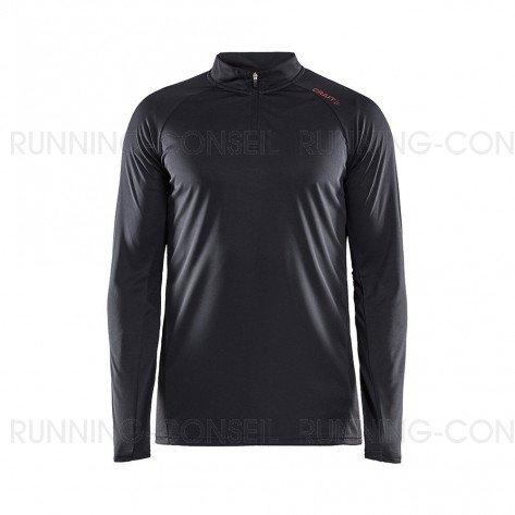 CRAFT Tee-Shirt Manches Longues Eaze Col Zippé Homme   Noir
