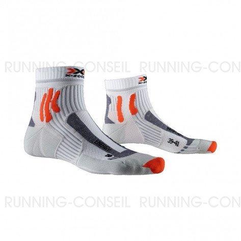 X-SOCKS Chaussettes Marathon Energy Mixte | Arctic White / Pearl Grey