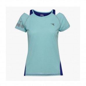 DIADORA Tee-shirt manches courtes L. BRIGHT SUN LOCK Femme | AQUA SPLASH