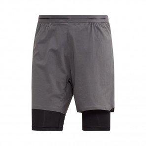 ADIDAS Short 2 en 1 AGRAVIC Homme | Grey Five