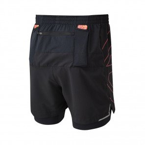 RONHILL SHORT TWIN MARATHON INFINITY Homme | MULBERRY/BRIGHT WHITE