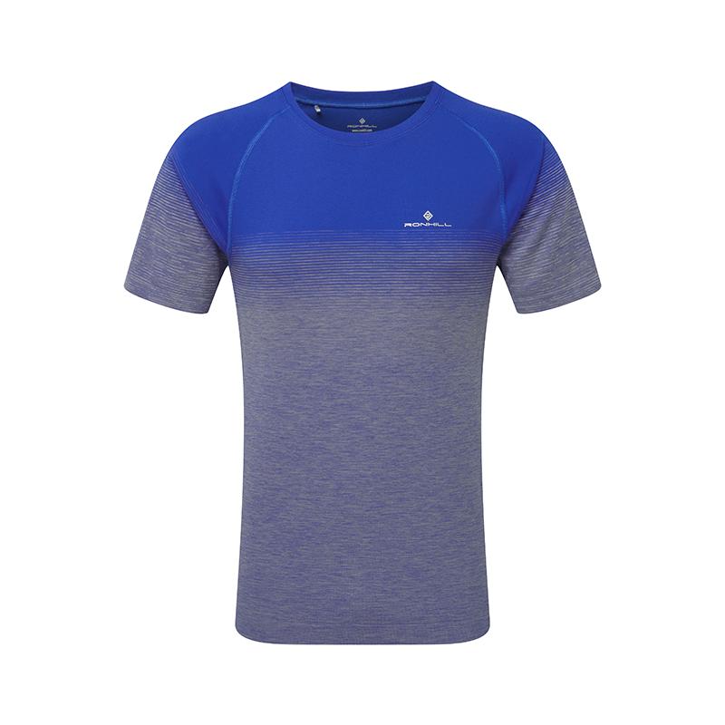 RONHILL Tee-Shirt manches courtes MARATHON INFINITY Homme | Azurite Marl